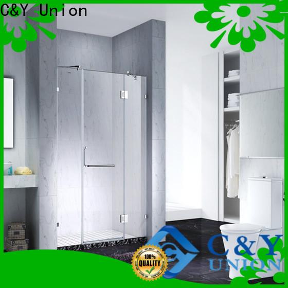 C&Y Union practical frameless shower for bath