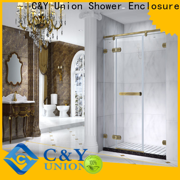 C&Y Union semi frameless shower door easy clean for shower room