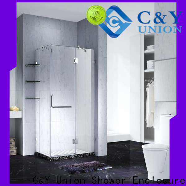 C&Y Union frameless glass shower doors for bath