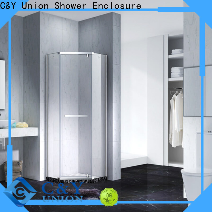 C&Y Union practical semi frameless shower door cubicles for bathtub