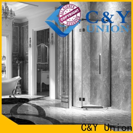 C&Y Union firm frameless shower screen cabin for shower room