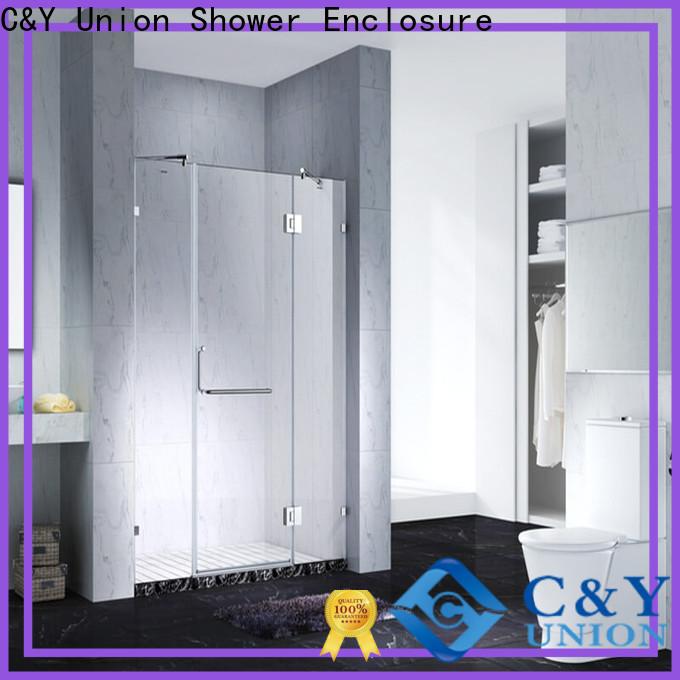 C&Y Union elegant frameless glass shower cabin for bath