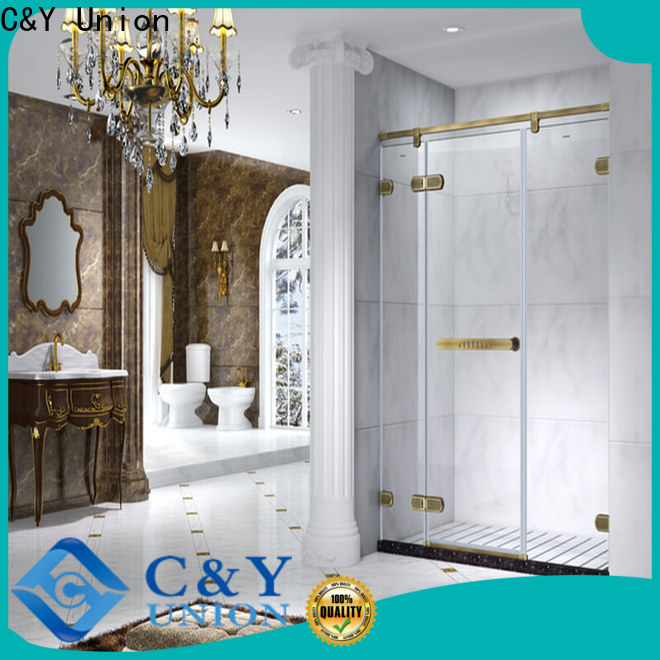 firm semi frameless shower door easy clean for shower room