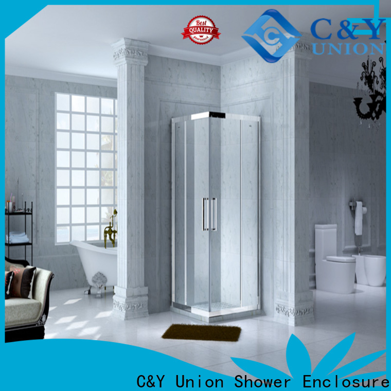 C&Y Union popular semi framed shower for tub for alcove