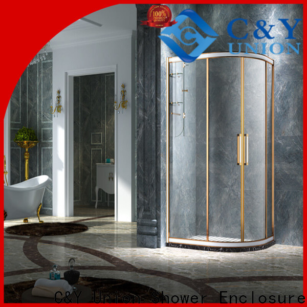 C&Y Union practical semi framed shower door for sale for corner