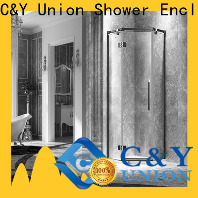 C&Y Union elegant frameless glass shower doors easy clean for tub