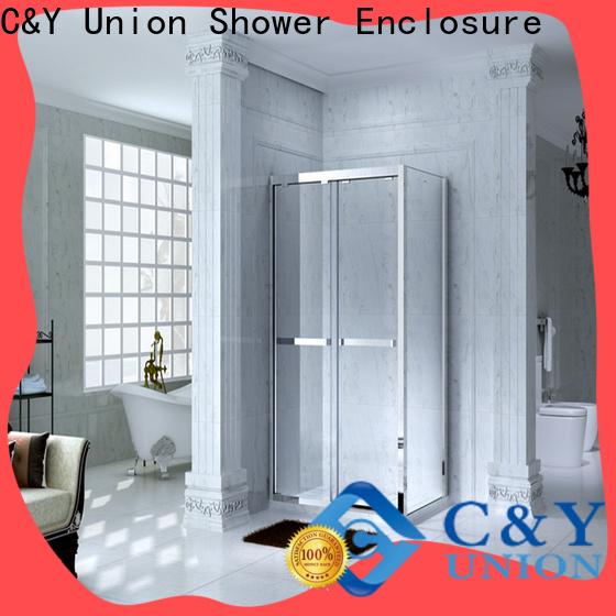 aluminum framed glass shower for tub for standalone showers