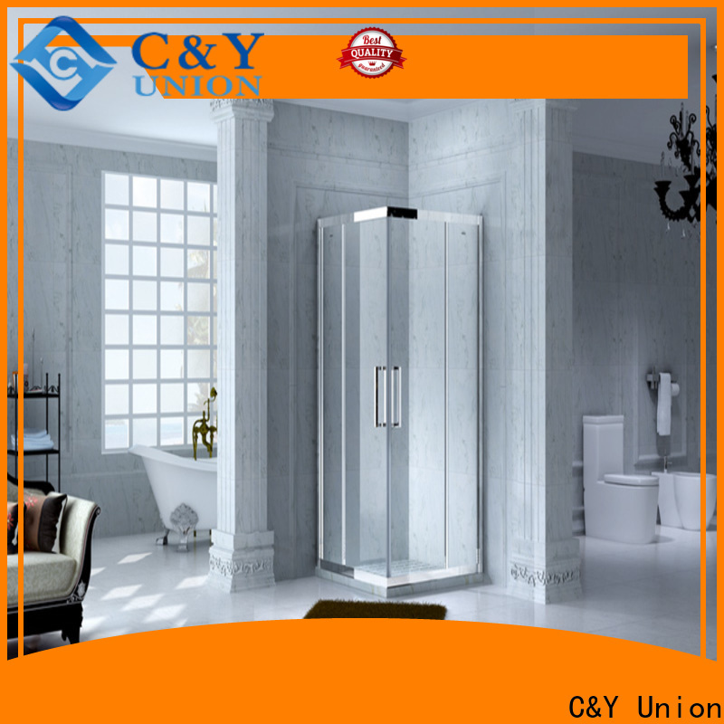 C&Y Union framed glass shower door for sale for bathtub showers