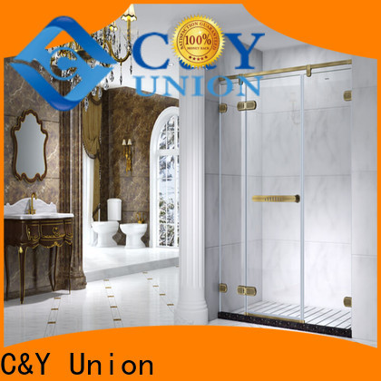 C&Y Union frameless glass doors factory for bath