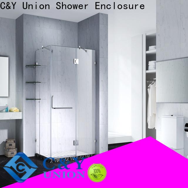 C&Y Union firm frameless shower enclosure easy clean for bathtub