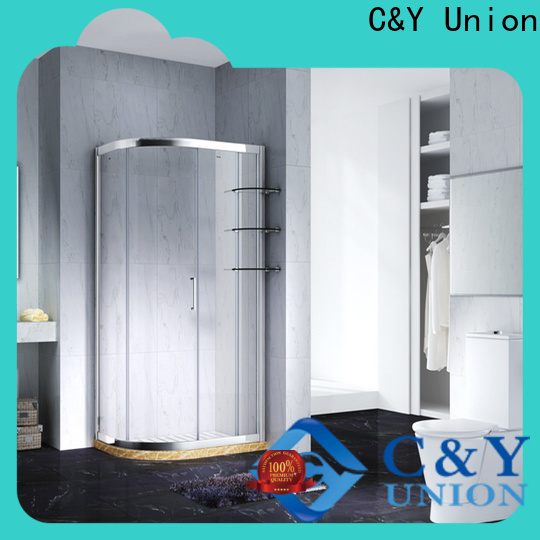 C&Y Union semi framed shower door for standalone showers