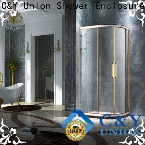 C&Y Union custom framed shower doors for sale for bathtub showers