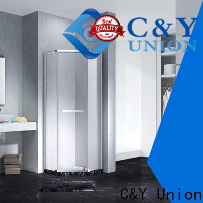 C&Y Union frameless glass shower cubicles for tub