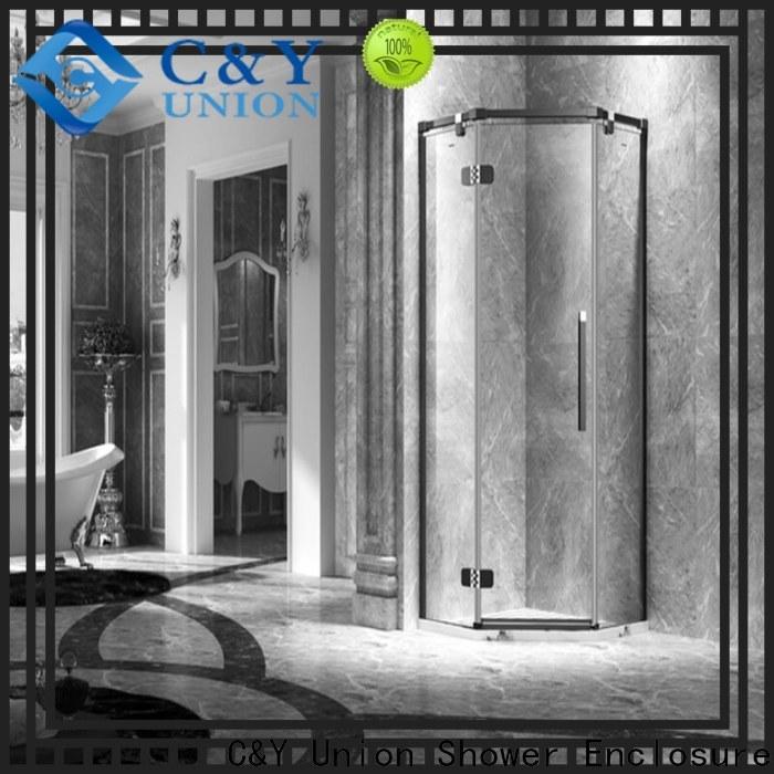 C&Y Union frameless glass doors shower panels for bath