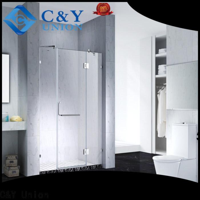 C&Y Union frameless glass doors shower panels for bathtub
