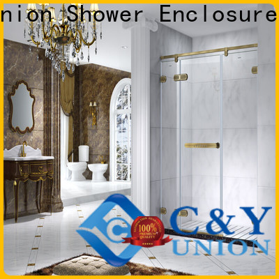 stable frameless glass shower doors for tub