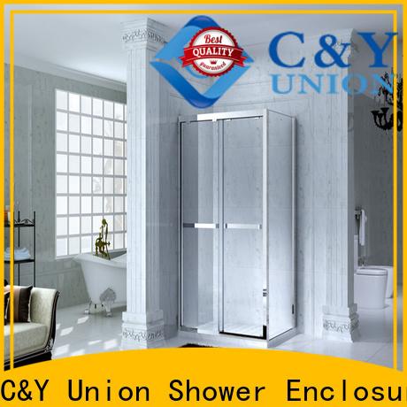 C&Y Union framed glass shower door manufacturer for bath