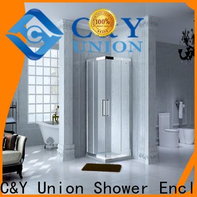C&Y Union elegant custom framed shower doors with sliding door for bath