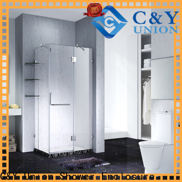 C&Y Union frameless glass doors factory for bathtub