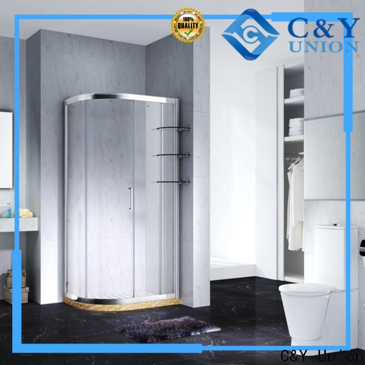 C&Y Union semi framed shower door for sale for shower room