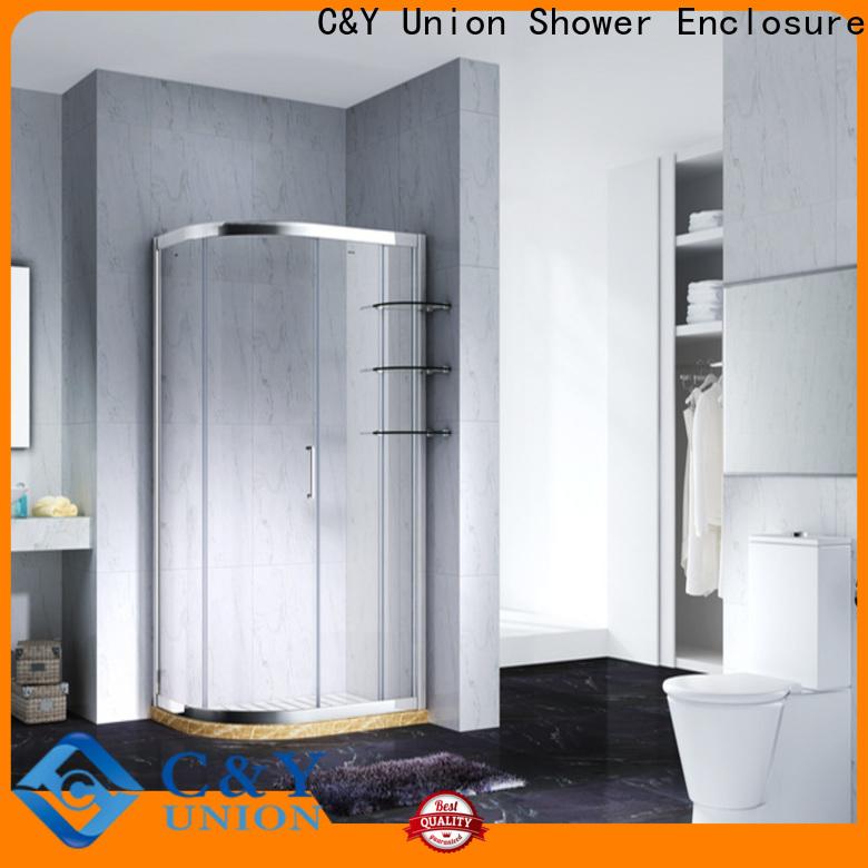 elegant framed glass shower for alcove