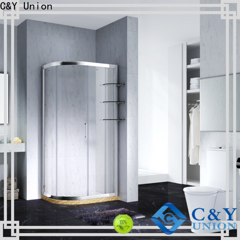 C&Y Union durable framed glass shower enclosure for tub for standalone showers
