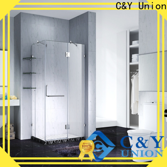 C&Y Union frameless shower cubicles for bathroom