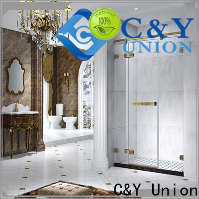 C&Y Union firm frameless shower easy clean for bath
