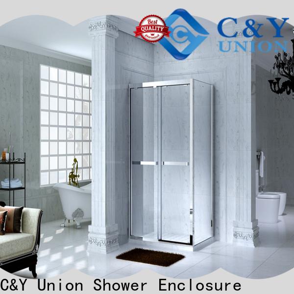 C&Y Union elegant framed glass shower enclosure manufacturer for bath