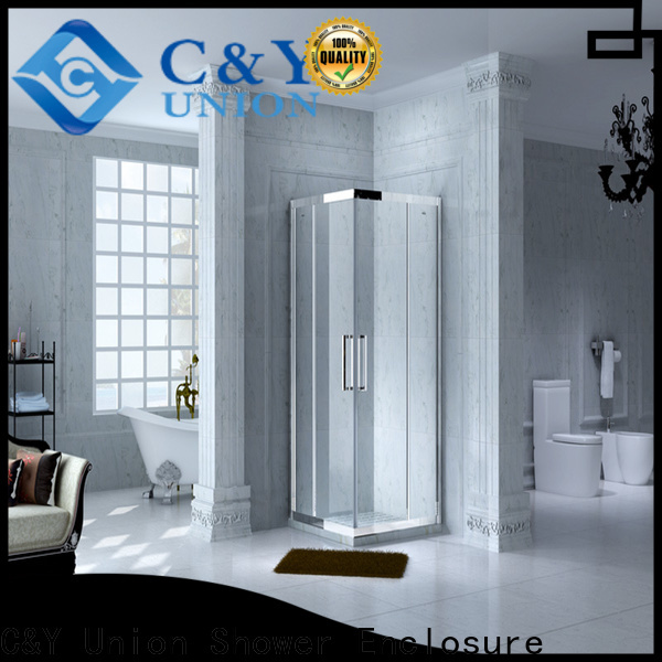 aluminum framed glass shower enclosure for sale for alcove
