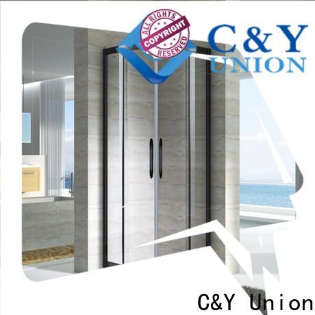 C&Y Union framed glass shower door for tub for bathtub showers