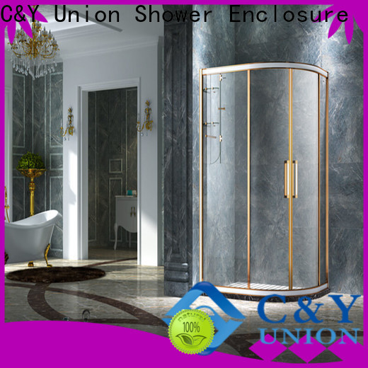 C&Y Union framed glass shower enclosure manufacturer for standalone showers