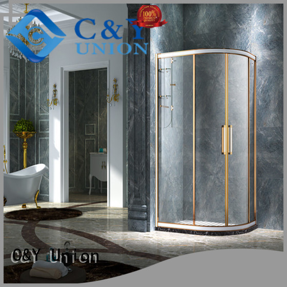 C&Y Union framed glass shower with sliding door for shower room