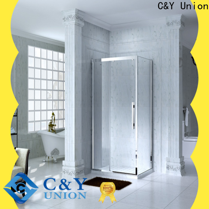 C&Y Union framed glass shower door for alcove