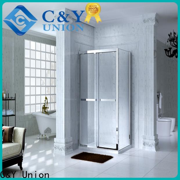 aluminum framed shower glass doors for sale for corner