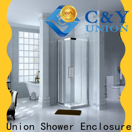 C&Y Union stainless steel framed shower glass doors for tub for shower room