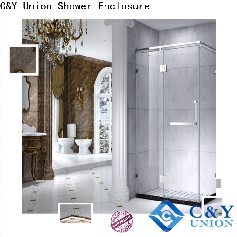 C&Y Union practical framed shower glass doors with sliding door for bath