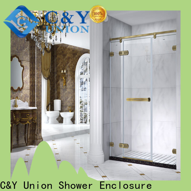 C&Y Union elegant frameless shower enclosure cabin for tub