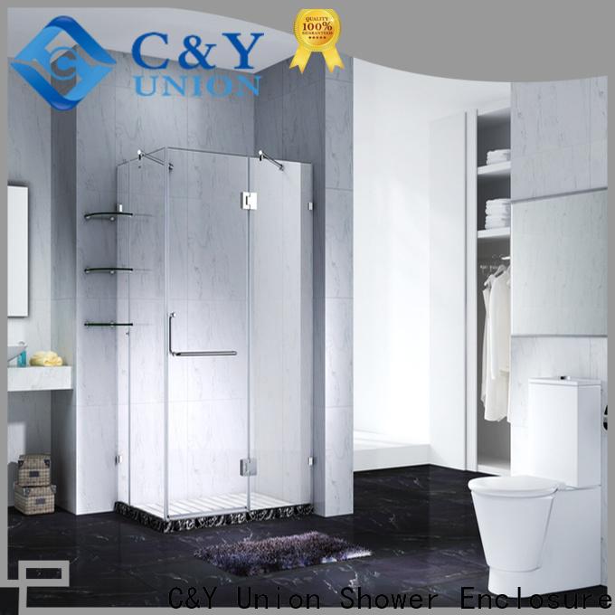 C&Y Union frameless glass shower shower screen for bathroom