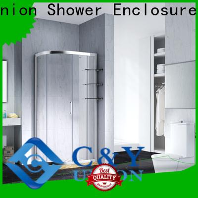 C&Y Union practical semi framed shower door manufacturer for corner