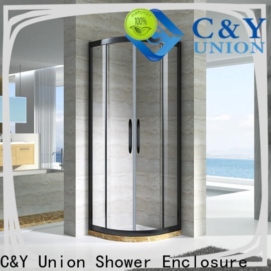 C&Y Union durable framed glass shower for bathtub showers