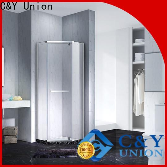 C&Y Union frameless glass doors cabin for tub