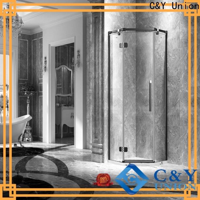 C&Y Union frameless shower enclosure shower panels for tub