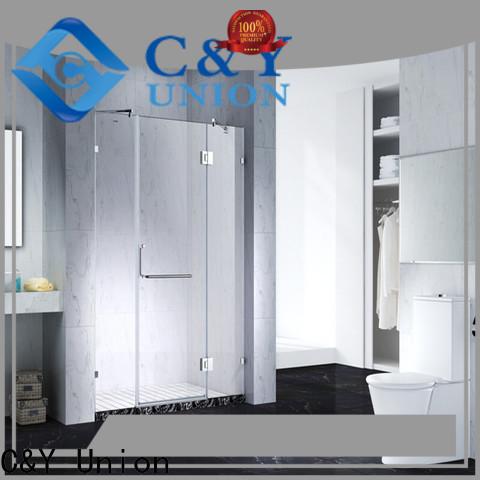 C&Y Union semi frameless shower door cabin for bath