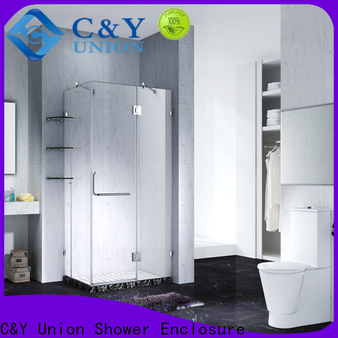 C&Y Union high quality frameless glass shower factory for shower room