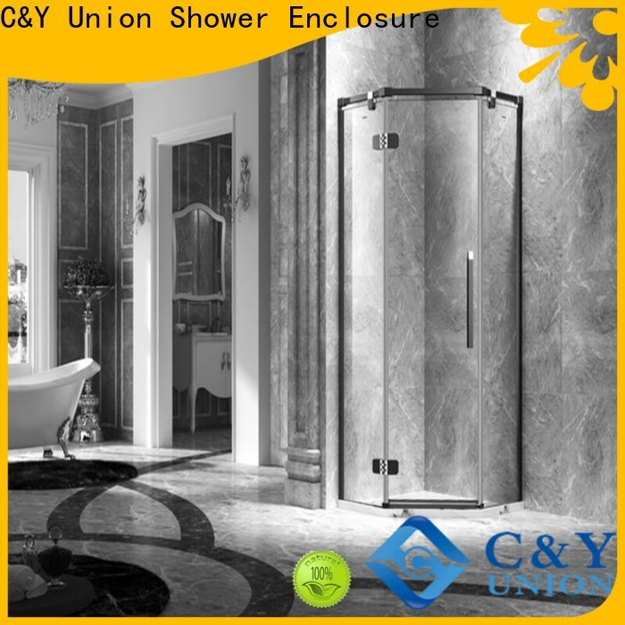 C&Y Union frameless shower screen shower screen for bagnio