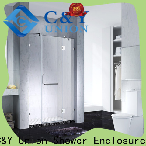 C&Y Union stable frameless shower easy clean for bathtub