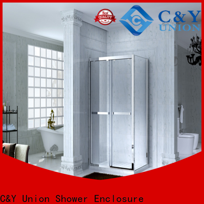 C&Y Union practical semi framed shower door for tub for standalone showers