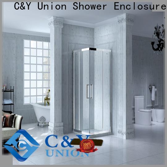 C&Y Union practical framed glass shower for bathroom