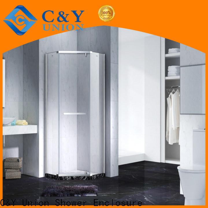 C&Y Union elegant frameless glass shower doors for bagnio